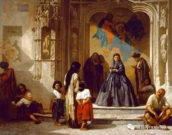 法国画家的人物肖像油画插图3