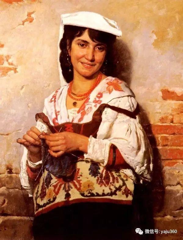 法国画家的人物肖像油画插图25