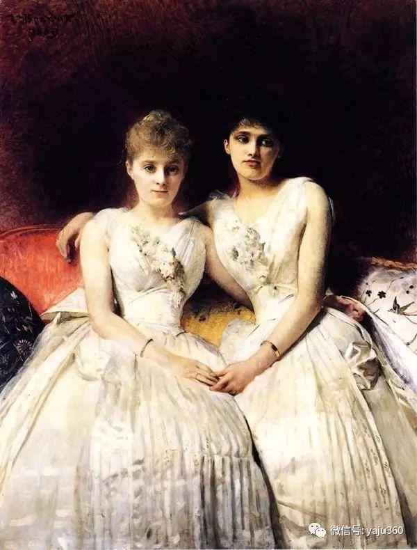 法国画家的人物肖像油画插图27