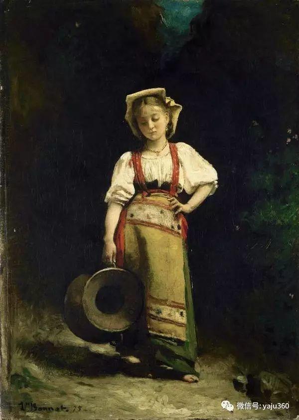 法国画家的人物肖像油画插图41