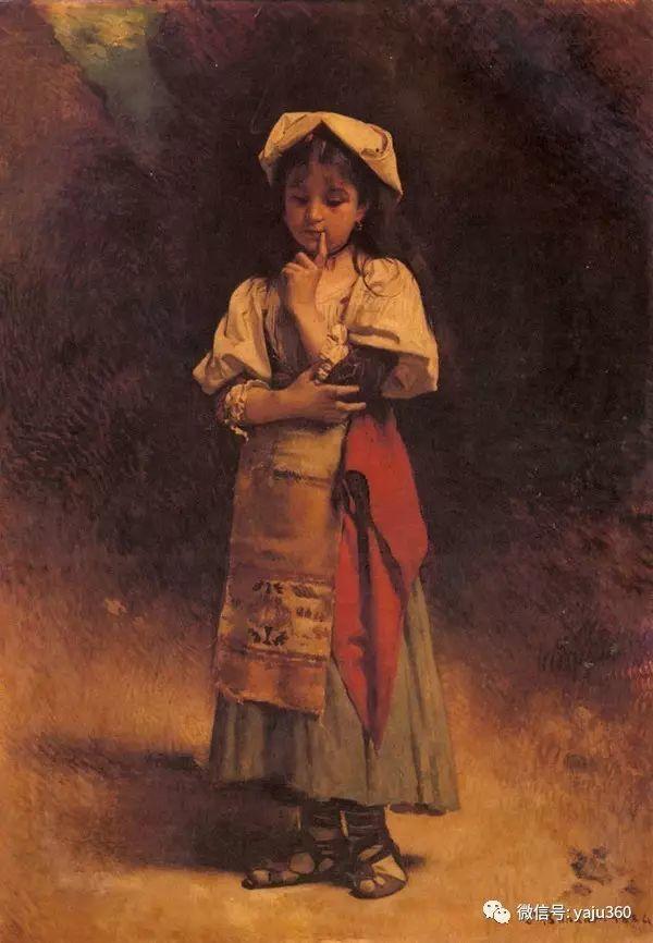 法国画家的人物肖像油画插图43