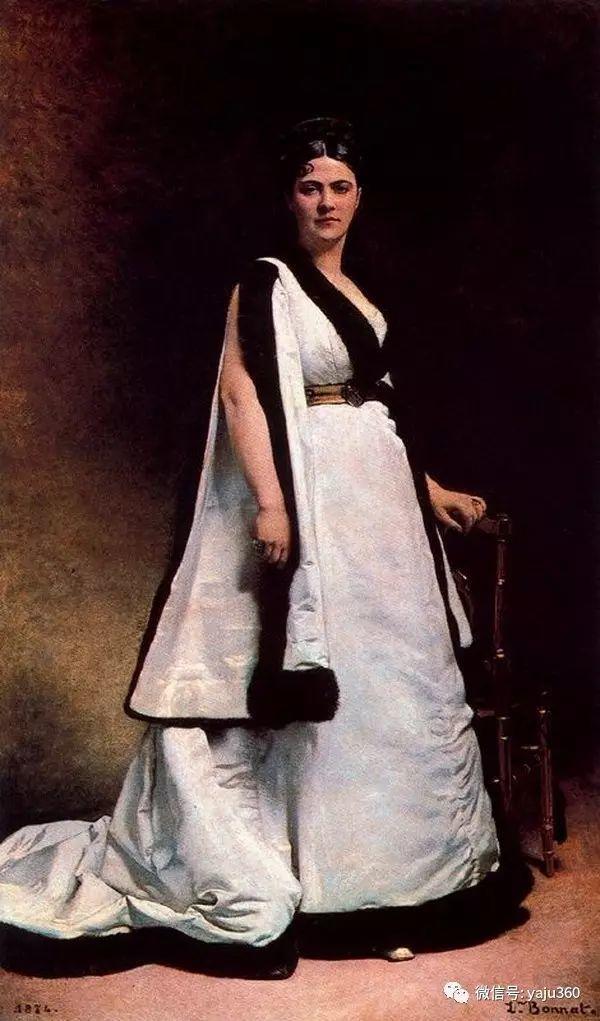法国画家的人物肖像油画插图53