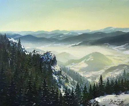 风景油画 保加利亚Kiril Stanchev作品插图35