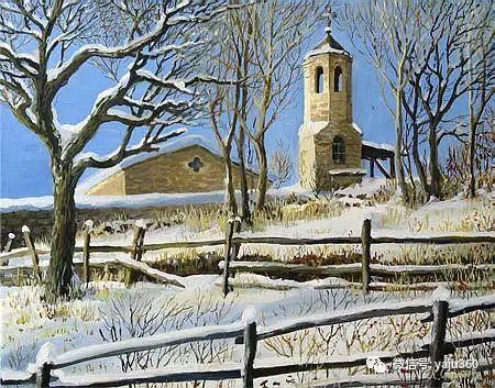 风景油画 保加利亚Kiril Stanchev作品插图39