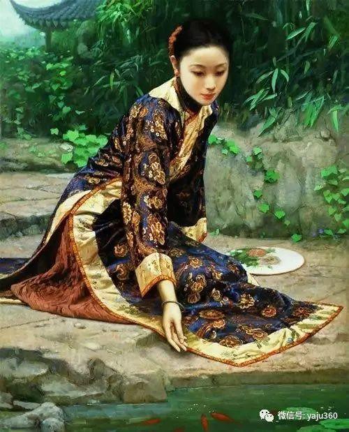 中国古典女性油画作品插图1