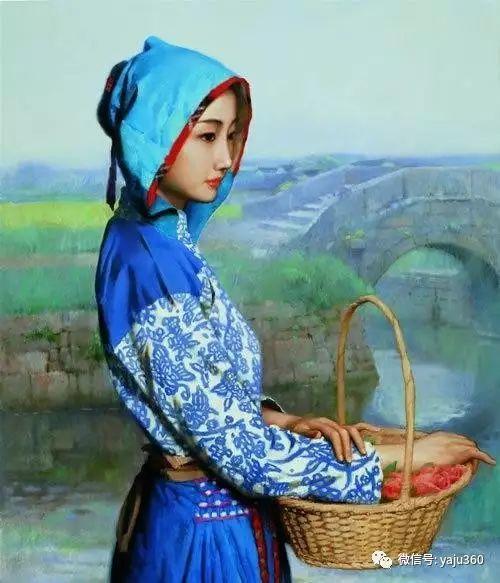 中国古典女性油画作品插图3