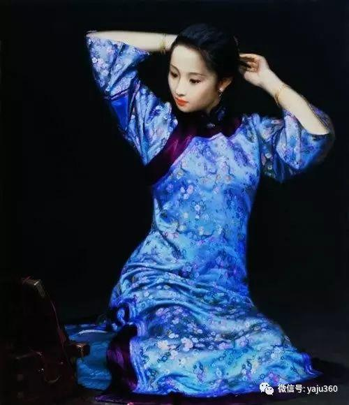 中国古典女性油画作品插图6