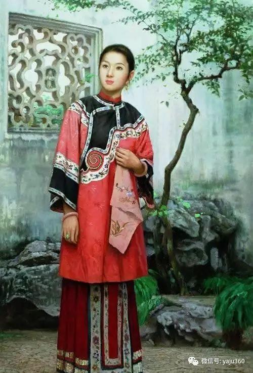 中国古典女性油画作品插图8