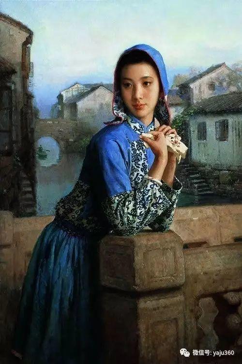 中国古典女性油画作品插图10