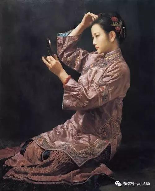 中国古典女性油画作品插图12