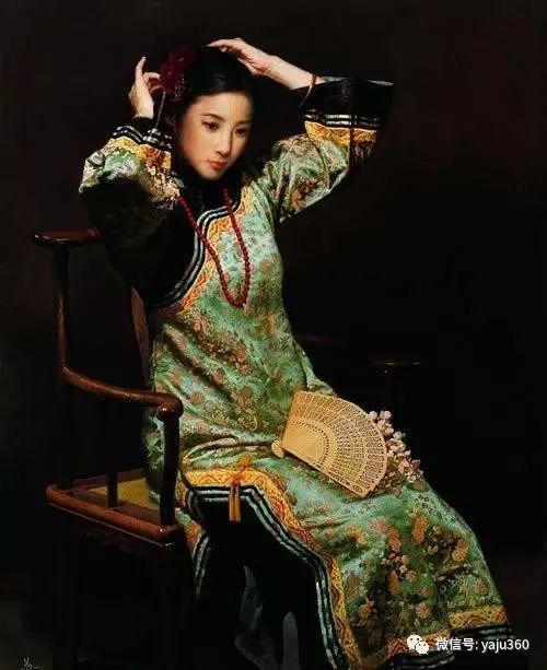 中国古典女性油画作品插图14