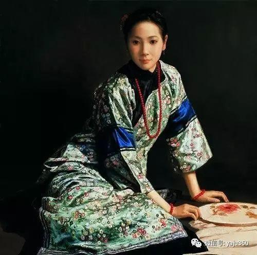 中国古典女性油画作品插图16