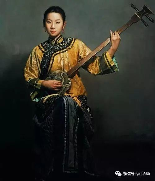 中国古典女性油画作品插图18