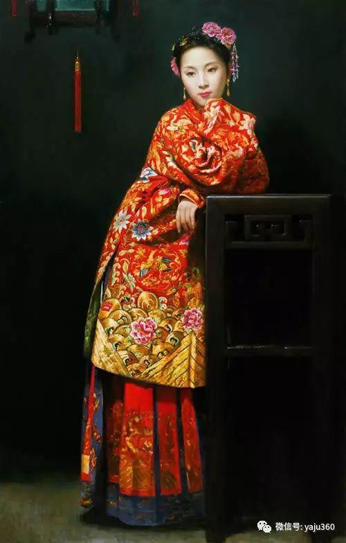 中国古典女性油画作品插图22
