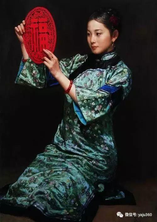 中国古典女性油画作品插图24