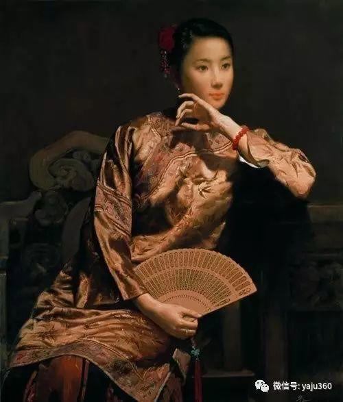 中国古典女性油画作品插图27