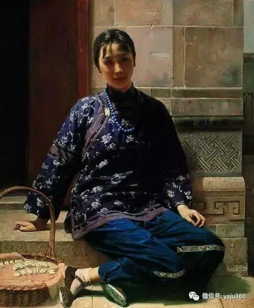 中国古典女性油画作品插图29
