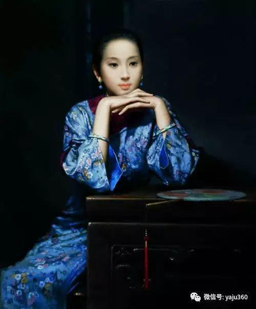 中国古典女性油画作品插图37