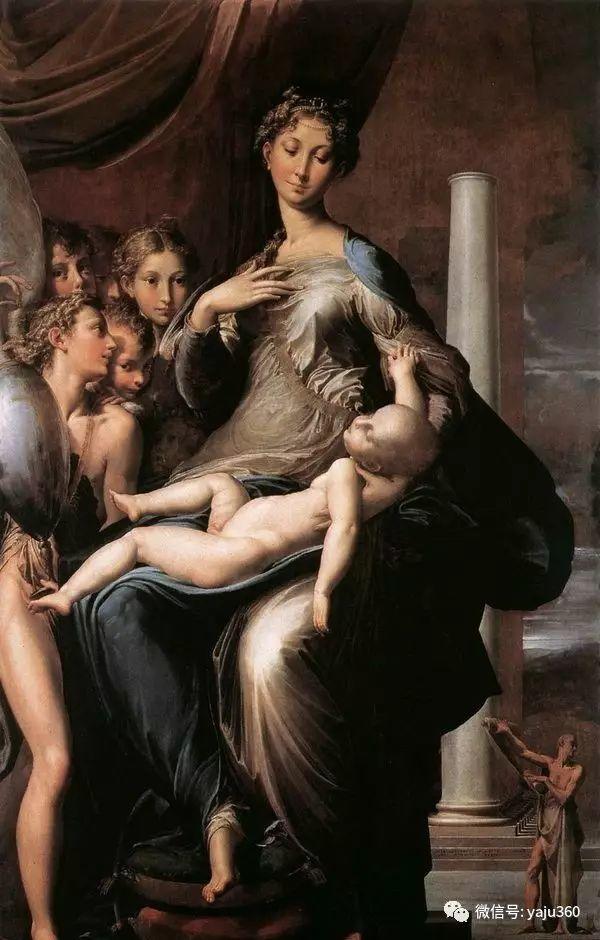 帕米贾尼诺《长颈圣母》插图1