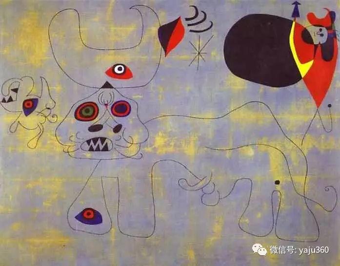 西班牙胡安·米罗(Joan Miró)油画作品插图1