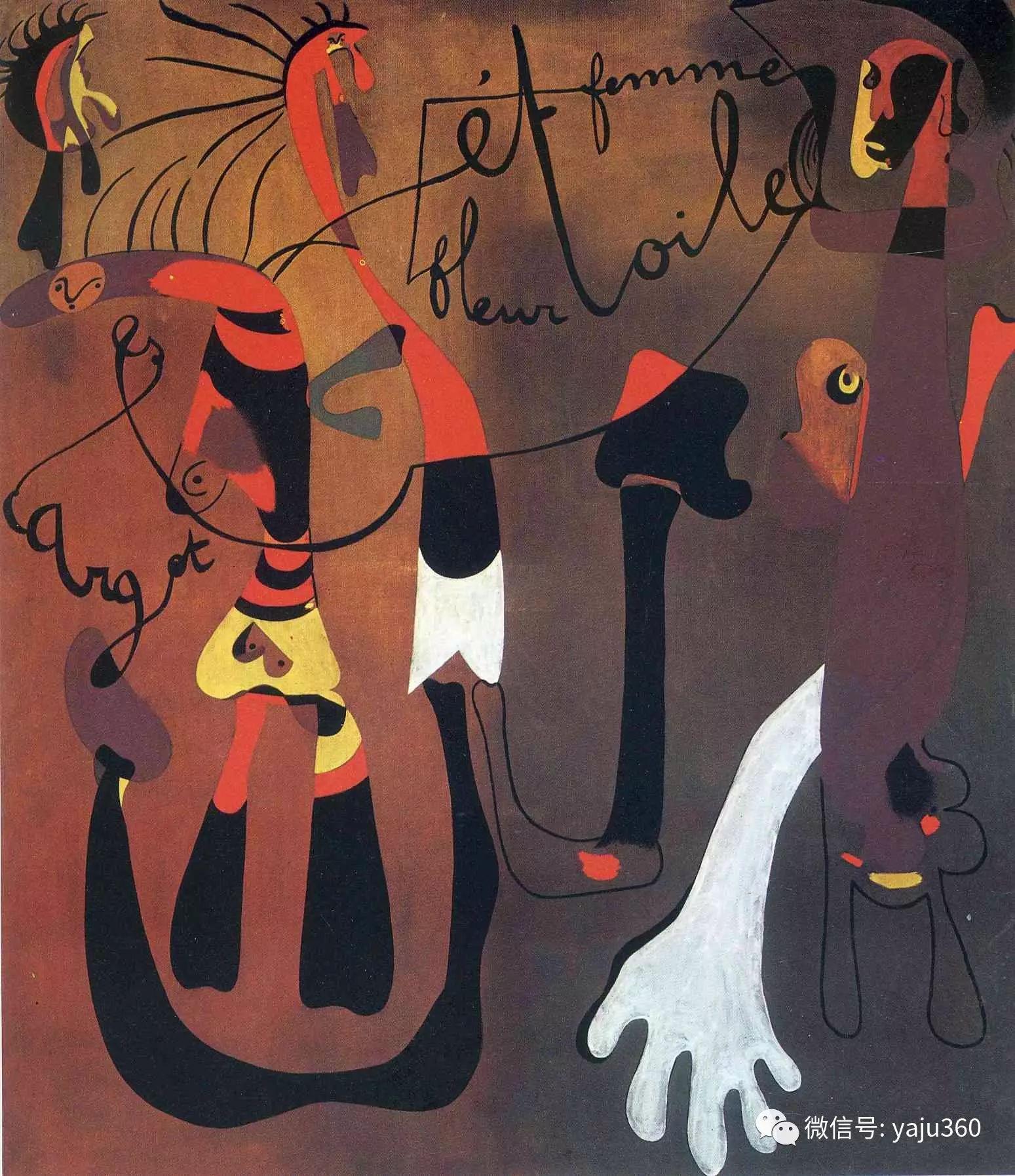 西班牙胡安·米罗(Joan Miró)油画作品插图163