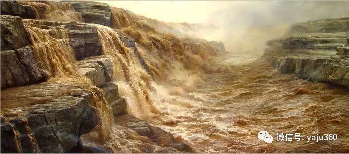 林建的黄河系列油画插图1