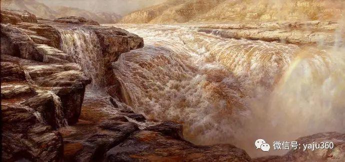 林建的黄河系列油画插图25