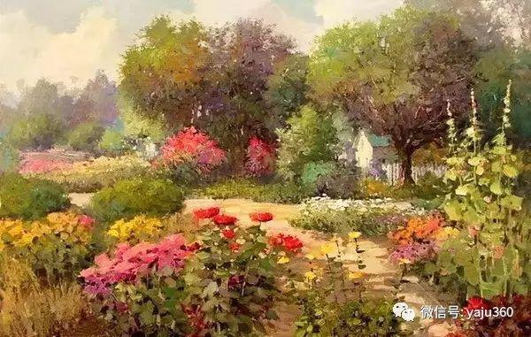 印象风景画 美国肯特·瓦利斯油画欣赏插图3