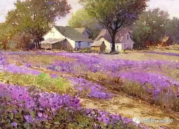 印象风景画 美国肯特·瓦利斯油画欣赏插图5