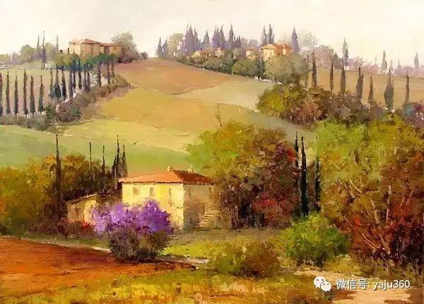 印象风景画 美国肯特·瓦利斯油画欣赏插图7