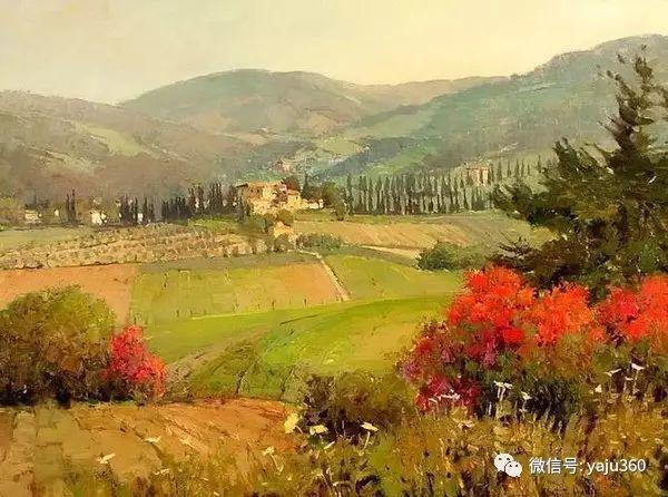 印象风景画 美国肯特·瓦利斯油画欣赏插图9