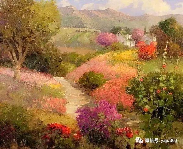 印象风景画 美国肯特·瓦利斯油画欣赏插图11