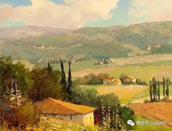 印象风景画 美国肯特·瓦利斯油画欣赏插图13