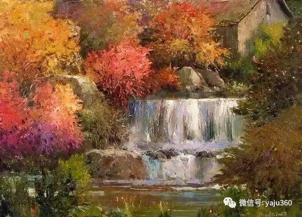 印象风景画 美国肯特·瓦利斯油画欣赏插图15