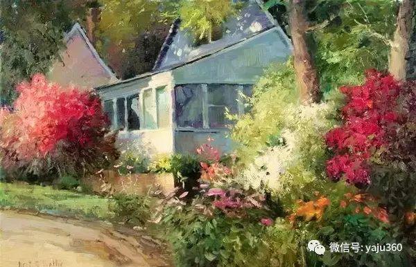 印象风景画 美国肯特·瓦利斯油画欣赏插图17