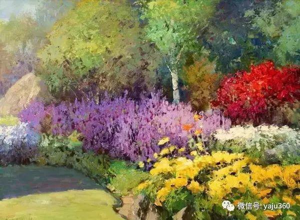 印象风景画 美国肯特·瓦利斯油画欣赏插图19
