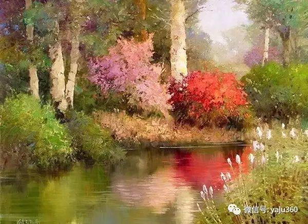 印象风景画 美国肯特·瓦利斯油画欣赏插图21