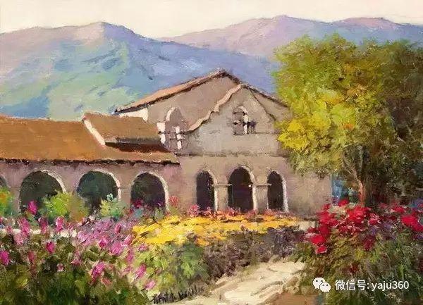 印象风景画 美国肯特·瓦利斯油画欣赏插图23