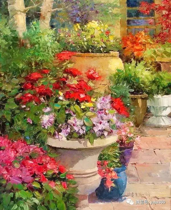 印象风景画 美国肯特·瓦利斯油画欣赏插图27