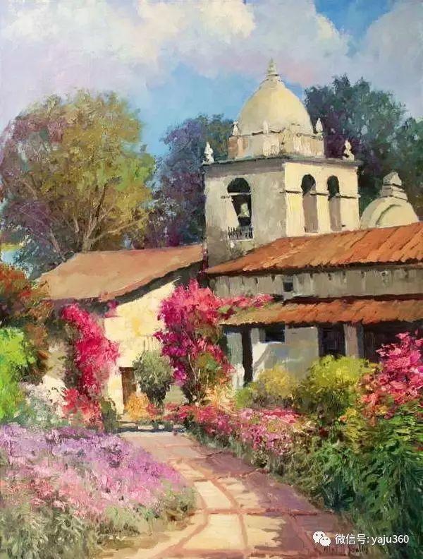 印象风景画 美国肯特·瓦利斯油画欣赏插图29