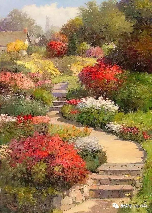 印象风景画 美国肯特·瓦利斯油画欣赏插图33