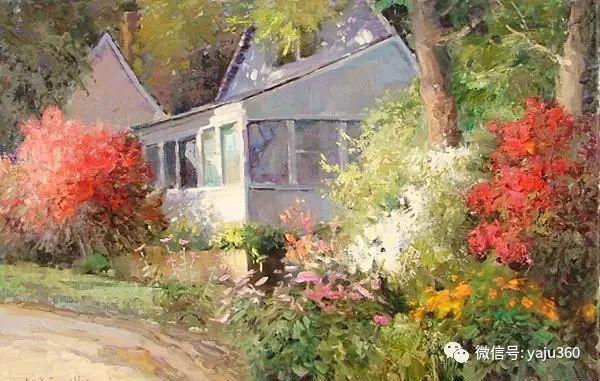 印象风景画 美国肯特·瓦利斯油画欣赏插图39