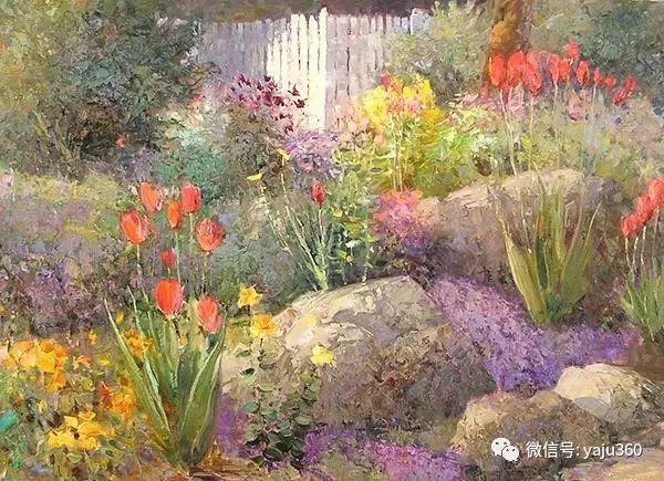 印象风景画 美国肯特·瓦利斯油画欣赏插图41