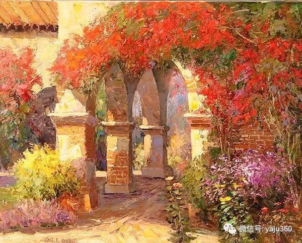 印象风景画 美国肯特·瓦利斯油画欣赏插图43