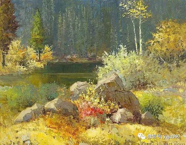 印象风景画 美国肯特·瓦利斯油画欣赏插图45
