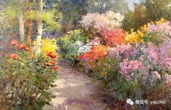 印象风景画 美国肯特·瓦利斯油画欣赏插图47