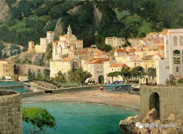 印象风景画 美国肯特·瓦利斯油画欣赏插图49
