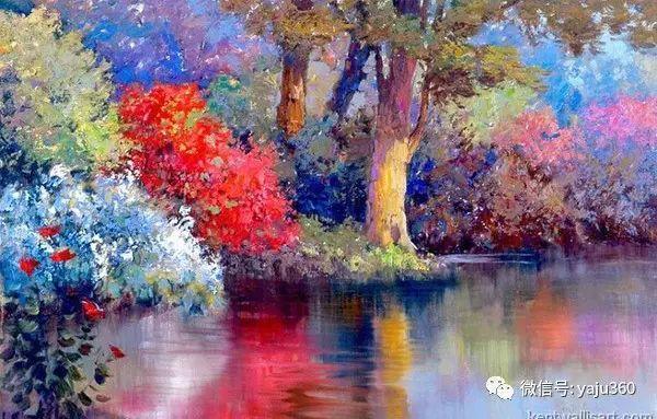 印象风景画 美国肯特·瓦利斯油画欣赏插图53