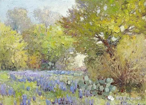 印象风景画 美国肯特·瓦利斯油画欣赏插图55