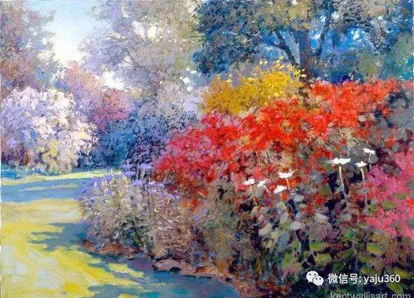 印象风景画 美国肯特·瓦利斯油画欣赏插图57